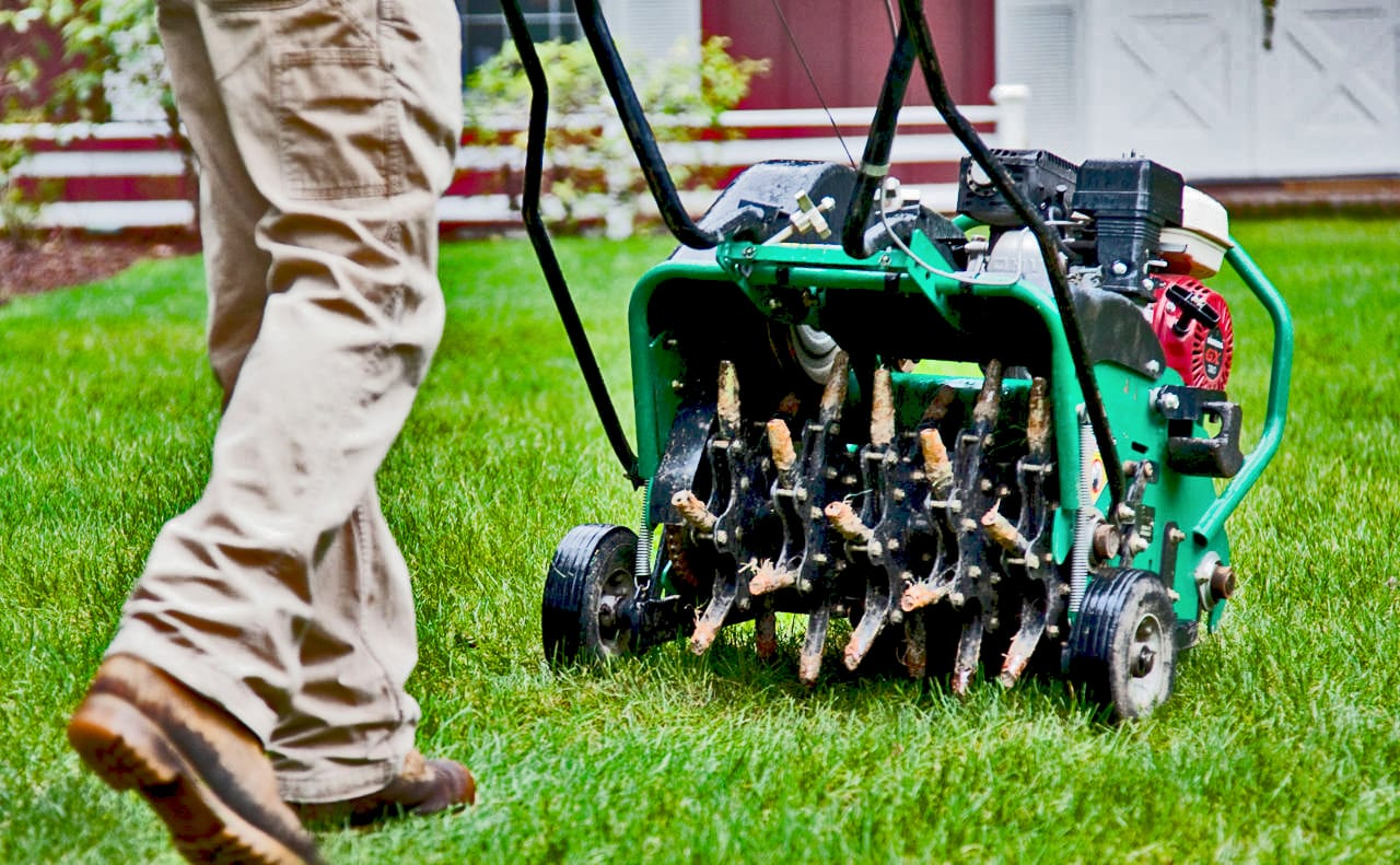 Aerating and Overseeding Services - Promow Lawn Care